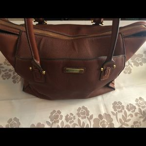 Adrienne Vittadini carry-all tote work laptop bag